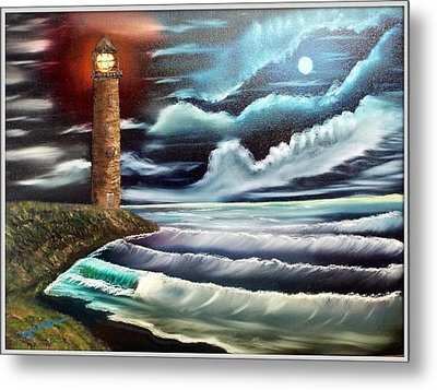 Night Light Metal Print by Joyce Krenson