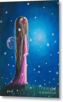 Night Of 50 Wishes Fairy Print By Shawna Erback Metal Print by Shawna Erback