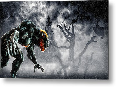 Night Of The Lycan Metal Print by Bob Orsillo