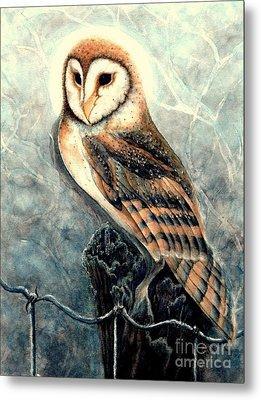 Night Owl Metal Print by Janine Riley
