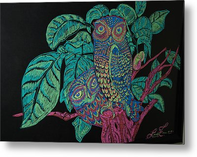 Night Owls Metal Print by Lorinda Fore