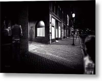 Night People Main Street Metal Print by Bob Orsillo