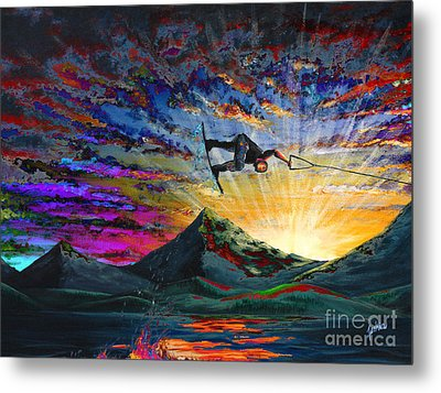 Night Ride Metal Print by Teshia Art