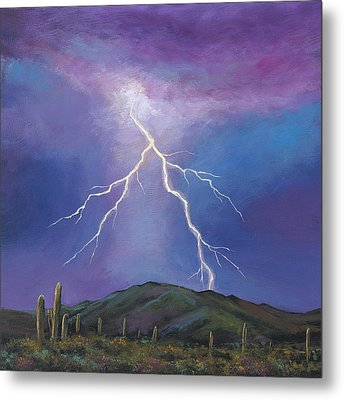 Night Strike Metal Print by Johnathan Harris