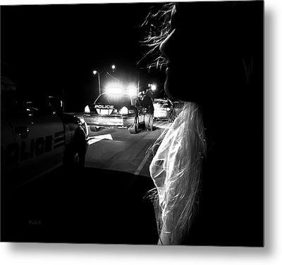 Night Traffic Stop Three Metal Print by Bob Orsillo