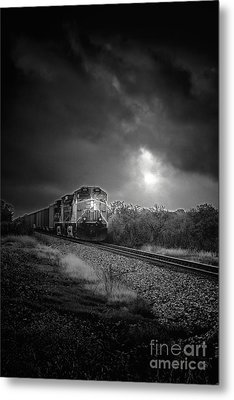 Night Train Metal Print by Robert Frederick