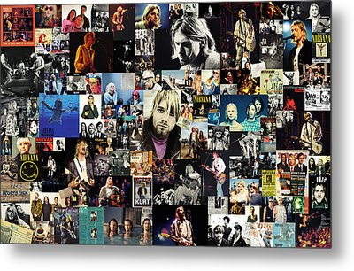 Nirvana Collage Metal Print by Taylan Soyturk