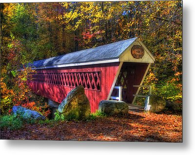 Nissitissit Bridge Brookline Nh Metal Print by Joann Vitali