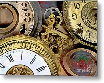 No More Time Metal Print by Tom Gari Gallery-Three-Photography