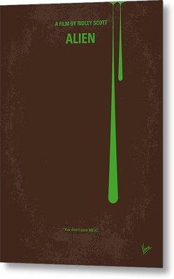 No004 My Alien Minimal Movie Poster Metal Print by Chungkong Art