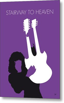 No011 My Led Zeppelin Minimal Music Poster Metal Print by Chungkong Art