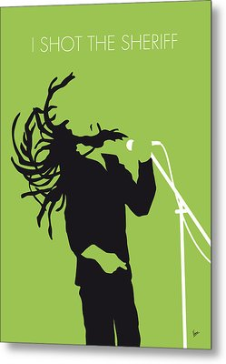 No016 My Bob Marley Minimal Music Poster Metal Print by Chungkong Art