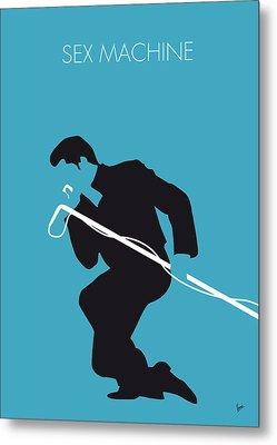 No018 My James Brown Minimal Music Poster Metal Print by Chungkong Art