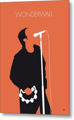 No023 My Oasis Minimal Music Poster Metal Print by Chungkong Art
