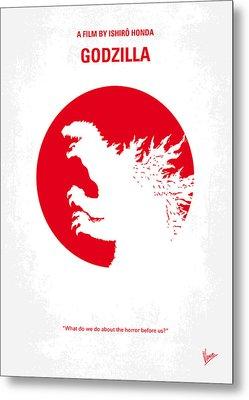 No029-2 My Godzilla 1954 Minimal Movie Poster.jpg Metal Print by Chungkong Art
