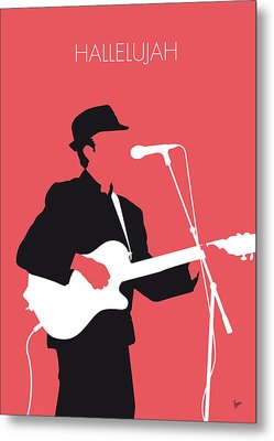 No042 My Leonard Cohen Minimal Music Metal Print by Chungkong Art
