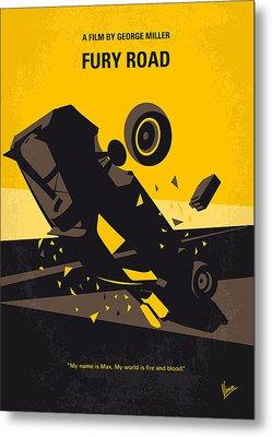 No051 My Mad Max 4 Fury Road Minimal Movie Poster Metal Print by Chungkong Art