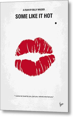 No116 My Some Like It Hot Minimal Movie Poster Metal Print by Chungkong Art