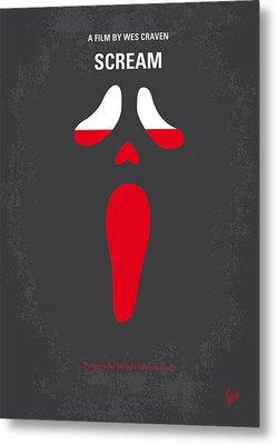 No121 My Scream Minimal Movie Poster Metal Print by Chungkong Art