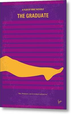 No135 My The Graduate Minimal Movie Poster Metal Print by Chungkong Art