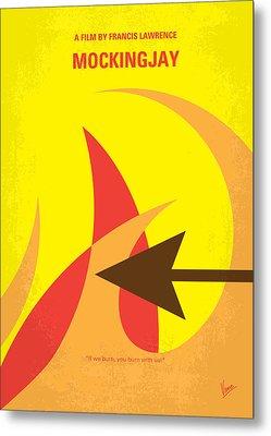 No175-3 My Mockingjay - The Hunger Games Minimal Movie Poster Metal Print by Chungkong Art