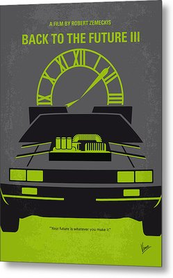 No183 My Back To The Future Minimal Movie Poster-part IIi Metal Print by Chungkong Art