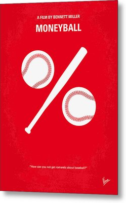 No191 My Moneyball Minimal Movie Poster Metal Print by Chungkong Art