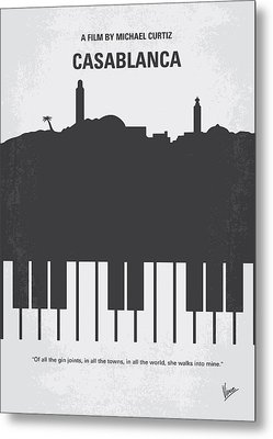 No192 My Casablanca Minimal Movie Poster Metal Print by Chungkong Art