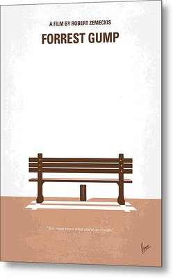 No193 My Forrest Gump Minimal Movie Poster Metal Print by Chungkong Art