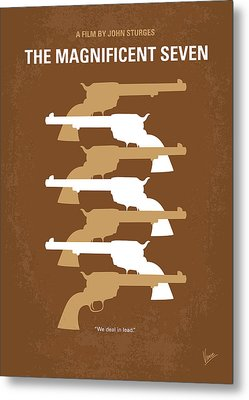 No197 My The Magnificent Seven Minimal Movie Poster Metal Print by Chungkong Art
