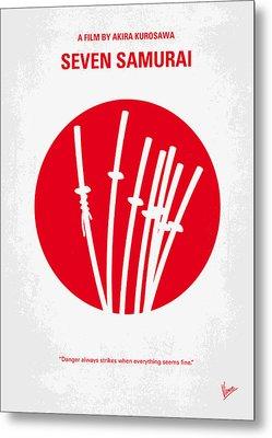 No200 My The Seven Samurai Minimal Movie Poster Metal Print by Chungkong Art