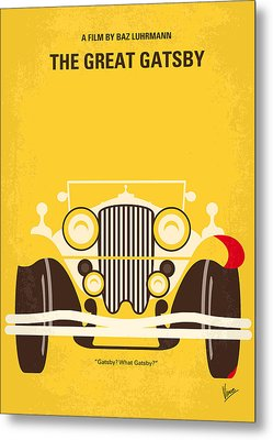 No206 My The Great Gatsby Minimal Movie Poster Metal Print by Chungkong Art