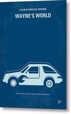 No211 My Waynes World Minimal Movie Poster Metal Print by Chungkong Art