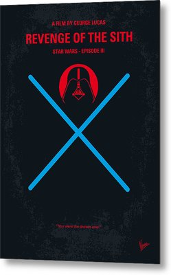 No225 My Star Wars Episode IIi Revenge Of The Sith Minimal Movie Poster Metal Print by Chungkong Art