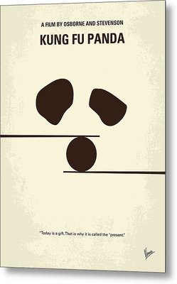 No227 My Kung Fu Panda Minimal Movie Poster Metal Print by Chungkong Art