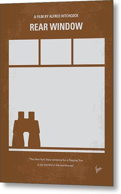 No238 My Rear Window Minimal Movie Poster Metal Print by Chungkong Art