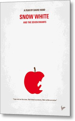 No252 My Snow White Minimal Movie Poster Metal Print by Chungkong Art