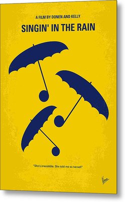 No254 My Singin In The Rain Minimal Movie Poster Metal Print by Chungkong Art