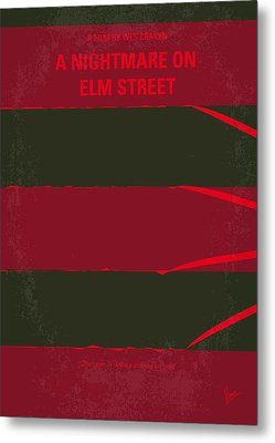 No265 My Nightmare On Elmstreet Minimal Movie Poster Metal Print by Chungkong Art