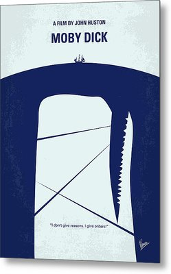 No267 My Moby Dick Minimal Movie Poster Metal Print by Chungkong Art