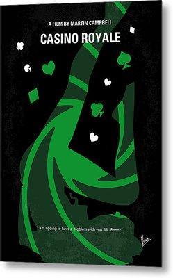 No277-007-2 My Casino Royale Minimal Movie Poster Metal Print by Chungkong Art