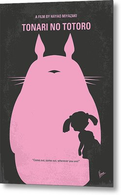 No290 My My Neighbor Totoro Minimal Movie Poster Metal Print by Chungkong Art