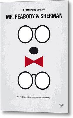No324 My Mr Peabody Minimal Movie Poster Metal Print by Chungkong Art
