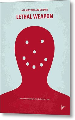 No327 My Lethal Weapon Minimal Movie Poster Metal Print by Chungkong Art