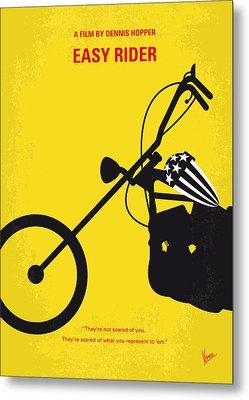 No333 My Easy Rider Minimal Movie Poster Metal Print by Chungkong Art