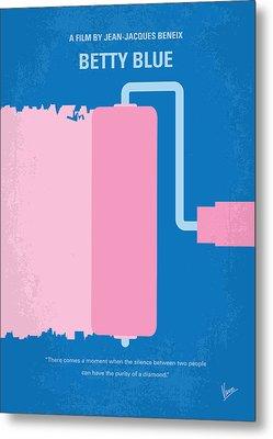 No359 My Betty Blue Minimal Movie Poster Metal Print by Chungkong Art
