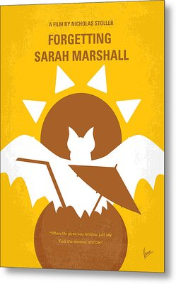 No393 My Forgetting Sarah Marshall Minimal Movie Poster Metal Print by Chungkong Art