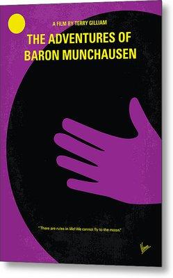 No399 My Baron Von Munchhausen Minimal Movie Poster Metal Print by Chungkong Art