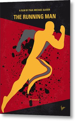 No425 My Running Man Minimal Movie Poster Metal Print by Chungkong Art