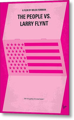 No395 My The People Vs Larry Flint Minimal Movie Poster Metal Print by Chungkong Art
